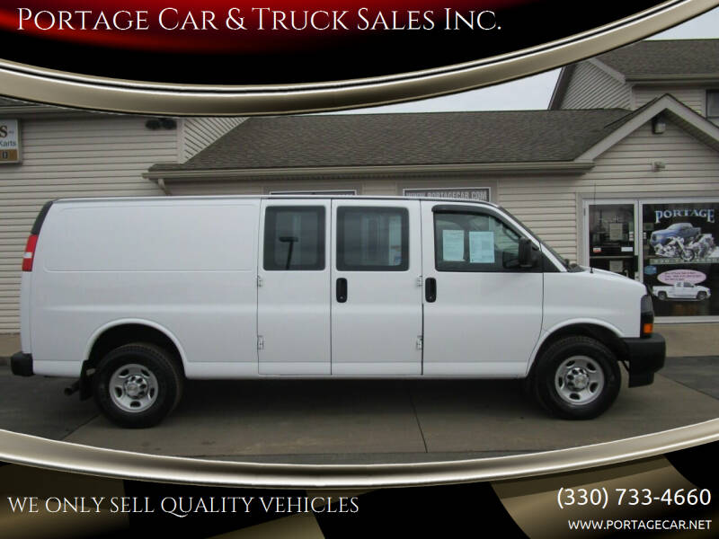 2019 Chevrolet Express Cargo for sale at Portage Car & Truck Sales Inc. in Akron OH