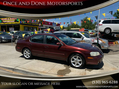 2001 Nissan Maxima for sale at Once and Done Motorsports in Chico CA
