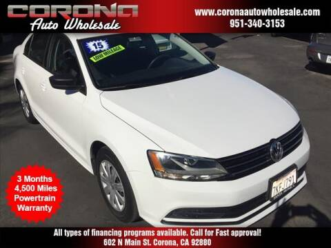 2015 Volkswagen Jetta for sale at Corona Auto Wholesale in Corona CA