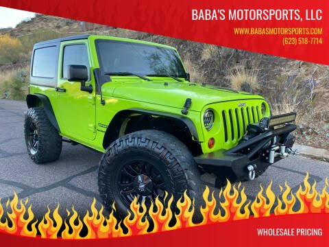 2012 Jeep Wrangler for sale at Baba's Motorsports, LLC in Phoenix AZ