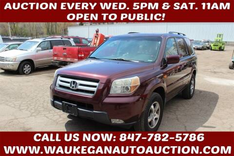 2007 Honda Pilot for sale at Waukegan Auto Auction in Waukegan IL