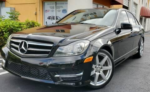2014 Mercedes-Benz C-Class for sale at POLLO AUTO SOLUTIONS in Miami FL