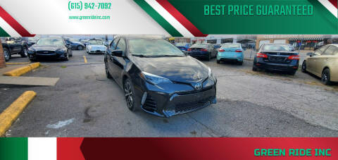 2017 Toyota Corolla for sale at Green Ride Inc in Nashville TN