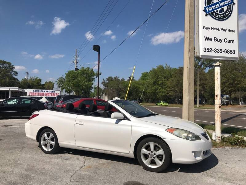 2005 Toyota Camry Solara for sale at Popular Imports Auto Sales in Gainesville FL