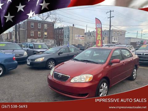 2005 Toyota Corolla for sale at Impressive Auto Sales in Philadelphia PA