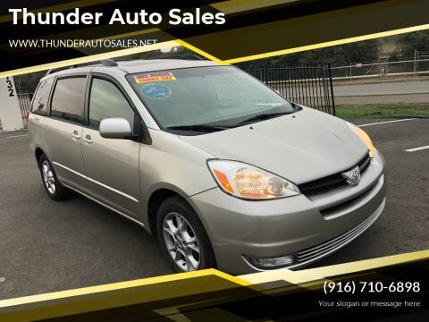 2005 Toyota Sienna for sale at Thunder Auto Sales in Sacramento CA