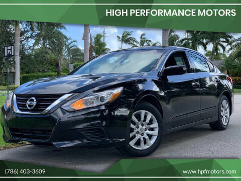 2016 Nissan Altima for sale at HIGH PERFORMANCE MOTORS in Hollywood FL