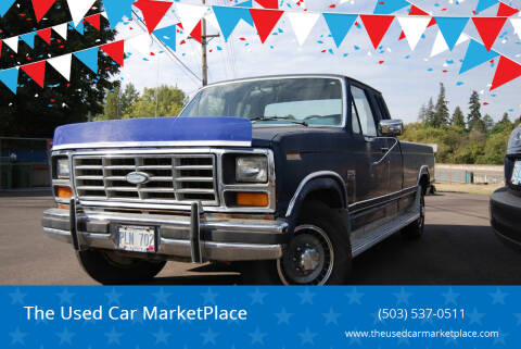 1986 Ford F-250 for sale at The Used Car MarketPlace in Newberg OR
