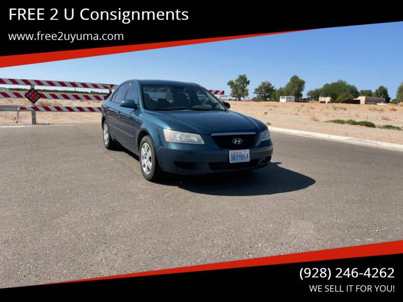 2008 Hyundai Sonata for sale at FREE 2 U Consignments in Yuma AZ