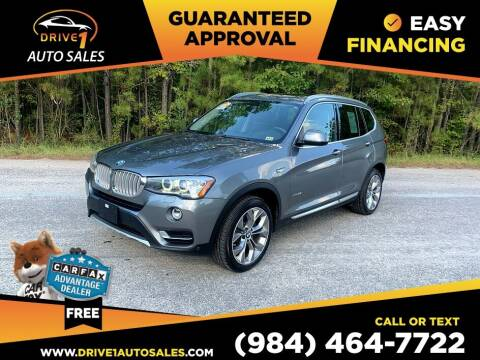 2016 BMW X3 for sale at Drive 1 Auto Sales in Wake Forest NC