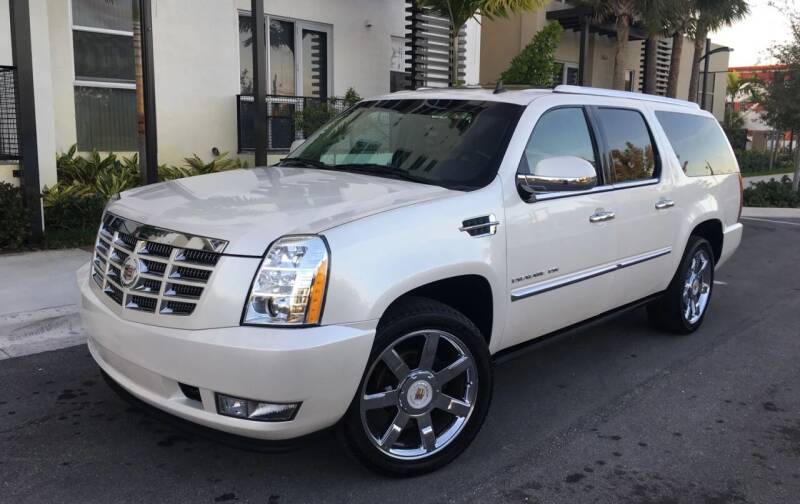2012 Cadillac Escalade ESV for sale at FIRST FLORIDA MOTOR SPORTS in Pompano Beach FL