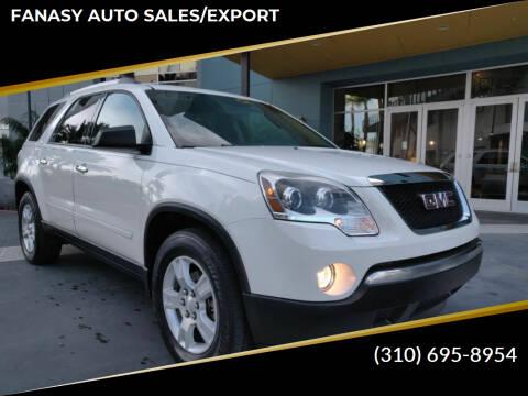 2012 GMC Acadia for sale at FANASY AUTO SALES/EXPORT in Yorba Linda CA