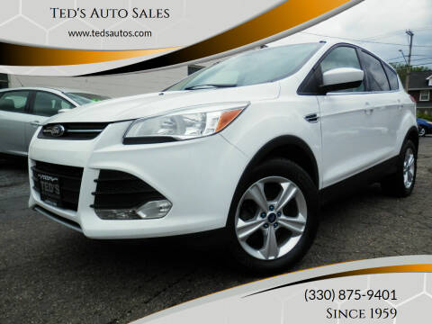 2013 Ford Escape for sale at Ted's Auto Sales in Louisville OH