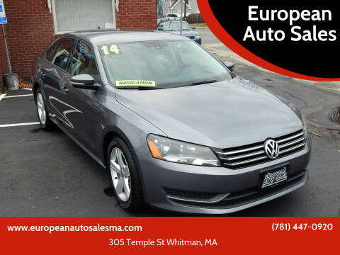 2014 Volkswagen Passat for sale at European Auto Sales in Whitman MA