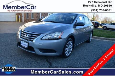 2013 Nissan Sentra for sale at MemberCar in Rockville MD