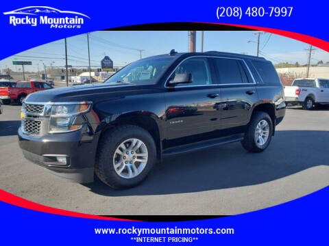 2016 Chevrolet Tahoe for sale at Rocky Mountain Motors in Idaho Falls ID
