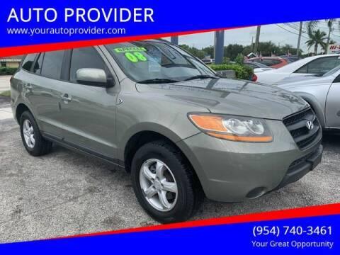 2008 Hyundai Santa Fe for sale at AUTO PROVIDER in Fort Lauderdale FL