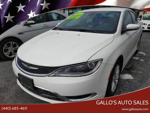 2015 Chrysler 200 for sale at Gallo's Auto Sales in North Bloomfield OH