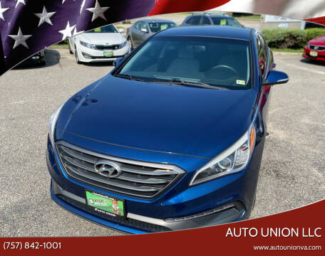 2015 Hyundai Sonata for sale at Auto Union LLC in Virginia Beach VA