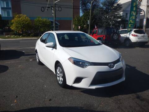 2016 Toyota Corolla for sale at 103 Auto Sales in Bloomfield NJ