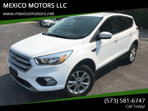 2017 Ford Escape for sale at MEXICO MOTORS LLC in Mexico MO