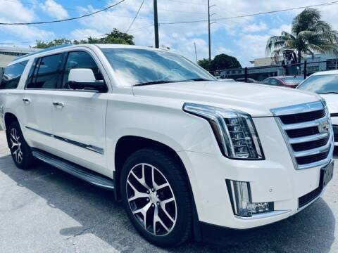 2015 Cadillac Escalade ESV for sale at Meru Motors in Hollywood FL