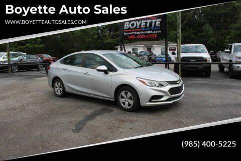 2018 Chevrolet Cruze for sale at Auto Group South - Boyette Auto Sales in Covington LA