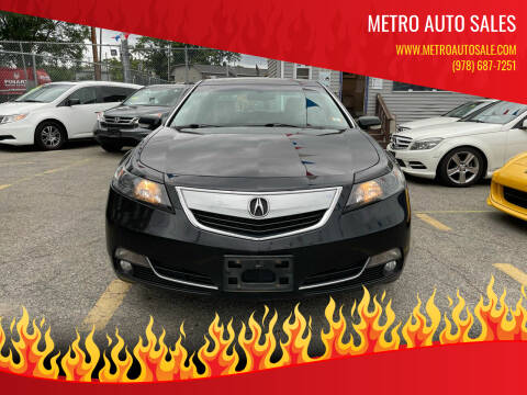 2012 Acura TL for sale at Metro Auto Sales in Lawrence MA