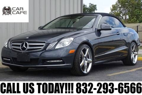 2013 Mercedes-Benz E-Class for sale at CAR CAFE LLC in Houston TX