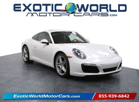2017 Porsche 911 for sale at Exotic World Motor Cars in Addison TX