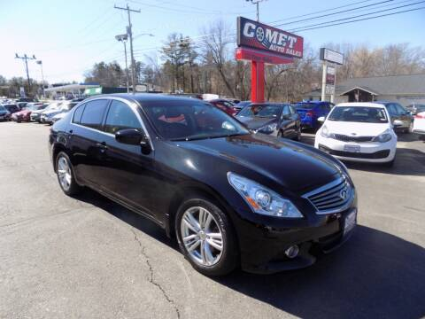 2013 Infiniti G37 Sedan for sale at Comet Auto Sales in Manchester NH