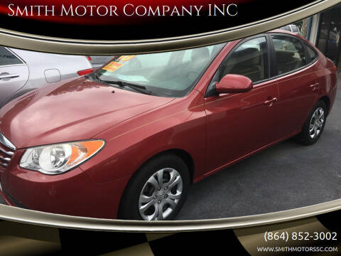 2010 Hyundai Elantra for sale at Smith Motor Company INC in Mc Cormick SC