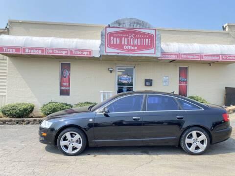 2008 Audi A6 for sale at SUN AUTOMOTIVE in Greensboro NC