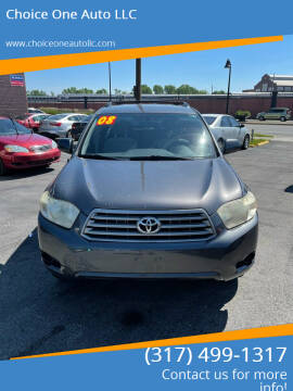 2008 Toyota Highlander for sale at Choice One Auto LLC in Beech Grove IN