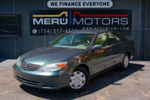 2003 Toyota Camry for sale at Meru Motors in Hollywood FL