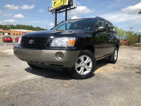 2002 Toyota Highlander for sale at Atlas Auto Sales in Smyrna GA