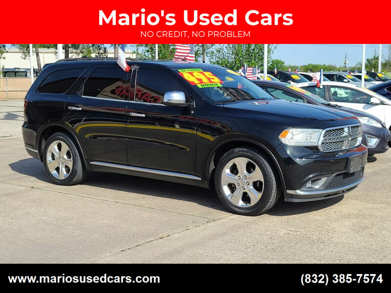 2015 Dodge Durango for sale at Mario's Used Cars in Houston TX
