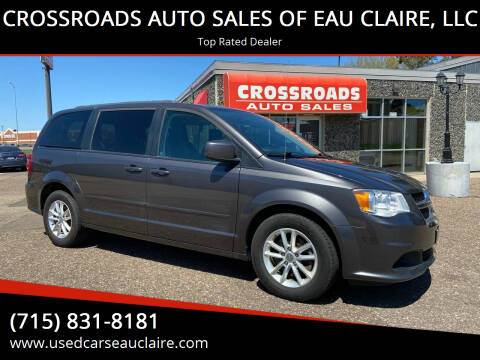 2015 Dodge Grand Caravan for sale at CROSSROADS AUTO SALES OF EAU CLAIRE, LLC in Eau Claire WI