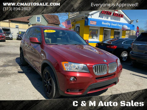 2013 BMW X3 for sale at C & M Auto Sales in Detroit MI