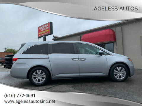 2016 Honda Odyssey for sale at Ageless Autos in Zeeland MI