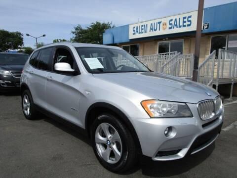 2011 BMW X3 for sale at Salem Auto Sales in Sacramento CA