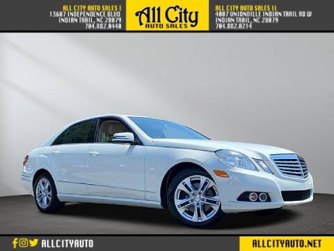 2010 Mercedes-Benz E-Class for sale at All City Auto Sales in Indian Trail NC