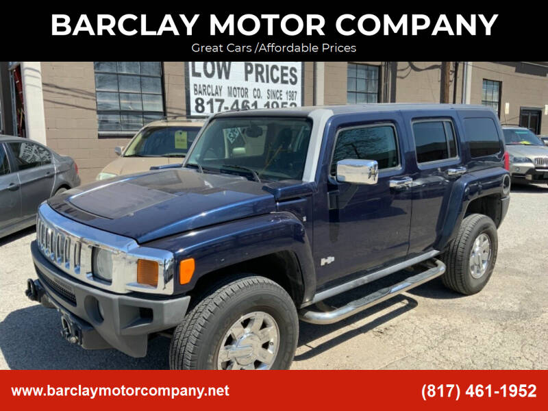 2007 HUMMER H3 for sale at BARCLAY MOTOR COMPANY in Arlington TX
