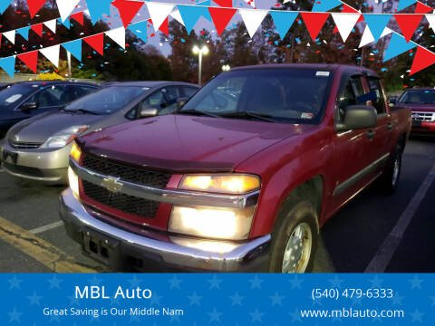 2006 Chevrolet Colorado for sale at MBL Auto Woodford in Woodford VA