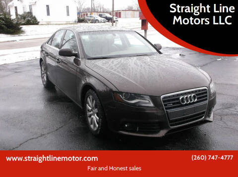 2011 Audi A4 for sale at Straight Line Motors LLC in Fort Wayne IN