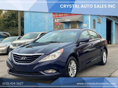 2013 Hyundai Sonata for sale at Crystal Auto Sales Inc in Nashville TN