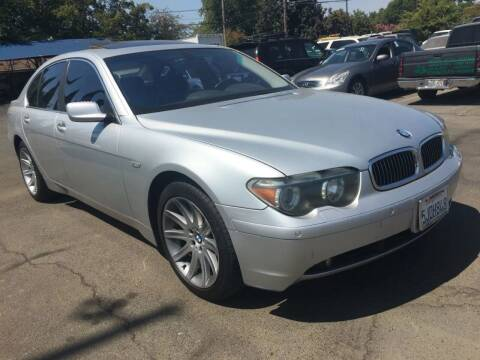 2002 BMW 7 Series for sale at Dealer Finance Auto Center LLC in Sacramento CA