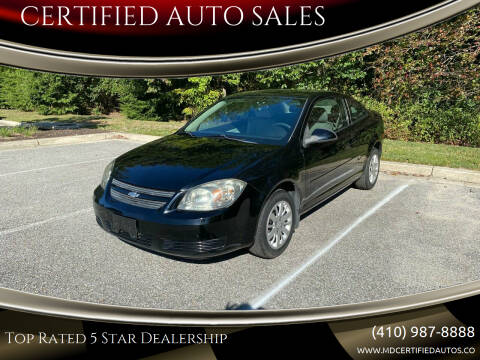 2010 Chevrolet Cobalt for sale at CERTIFIED AUTO SALES in Severn MD