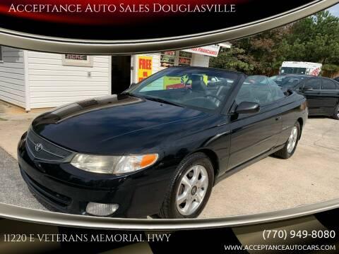 2001 Toyota Camry Solara for sale at Acceptance Auto Sales Douglasville in Douglasville GA