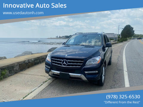 2013 Mercedes-Benz M-Class for sale at Innovative Auto Sales in North Hampton NH